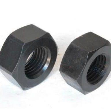 Tuerca hexagonal estándar ASME óxido negro