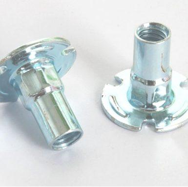 Palet de acero al carbono tuerca zinc blanco