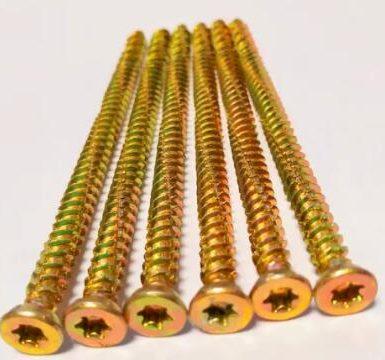 Tornillo de hormigón torx pozi 6 puntas hilo de zinc amarillo hi-lo